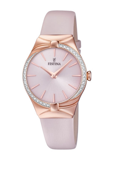 Festina Petite Analogue Ladies Wrist Watch - Pink -Gold F20390-1