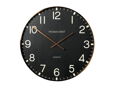 Thomas Kent 74cm Smith Arabic Round Analog Wall Clock - Black
