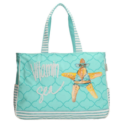 PE-Florence Vitamin Sea Ladies Shopper Bag - Blue