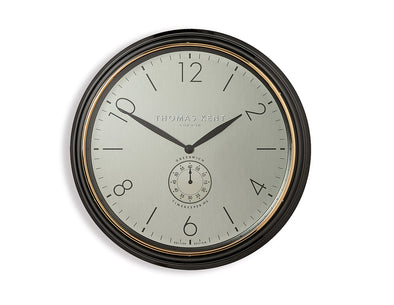 Thomas Kent 76cm Timekeeper White-Gold Round Wall Clock