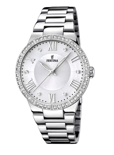 Festina Boyfriend Collection Analogue Ladies Wrist Watch - Silver F16719-1