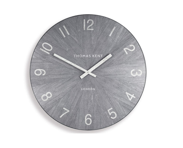 Thomas Kent 76cm Wharf Limestone Open Face Round Wall Clock - Grey