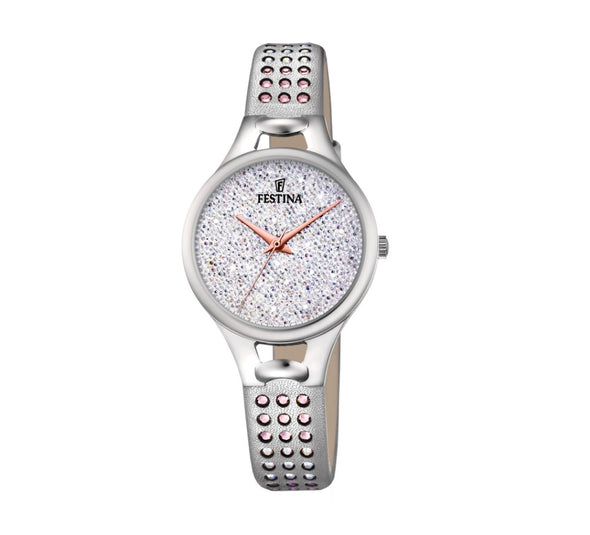 Festina Made Moiselle Analogue Ladies Wrist Watch - Silver F20407-1