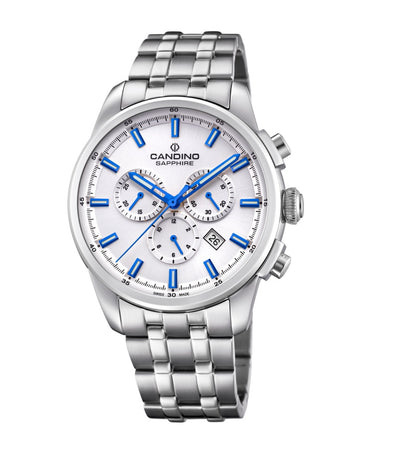 Candino Swiss Made Mens Chrono Stainless Steel Watch - Sport Elegance