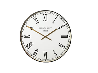 Thomas Kent 40cm Smith White Roman Round Analog Wall Clock - White