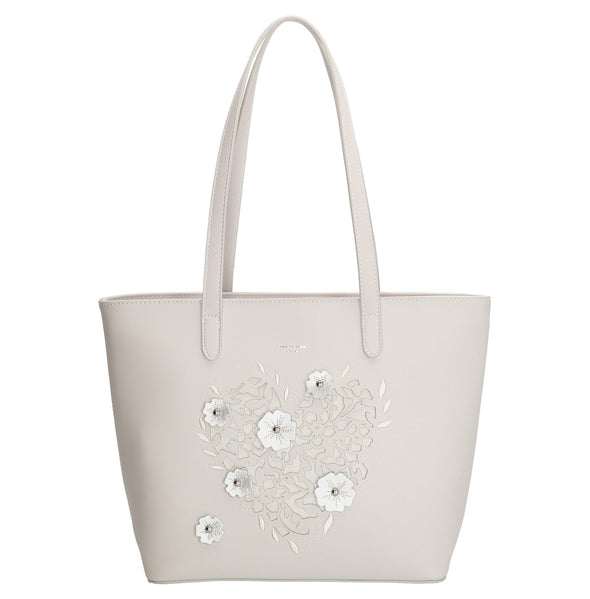 David Jones Paris Ladies Shopper/Hand Bag - White 3859