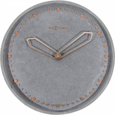 NeXtime 35cm Cross Polyresin Round Wall Clock - Grey