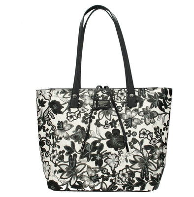 David Jones Paris Ladies Shopper/Tote Bag - Black & Grey