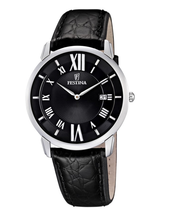 Festina Correa Clasico Analogue Men's Wrist Watch with Leather Strap