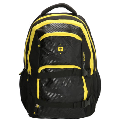 Enrico Benetti Natal Polyester 35 litres Backpack - Black & Yellow