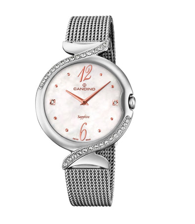 Candino Sapphire Swiss Made Ladies Stainless Steel Watch - Lady Elegance