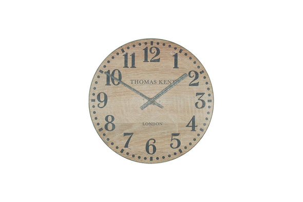 Thomas Kent 17.5cm Wharf Wood Effect Open Face Round Wall Clock