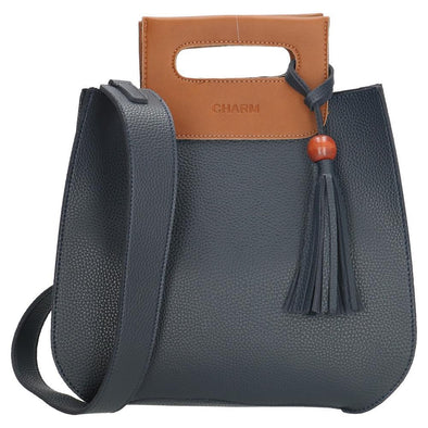 Charm London Covent Garden Ladies PU Hand Bag - Navy