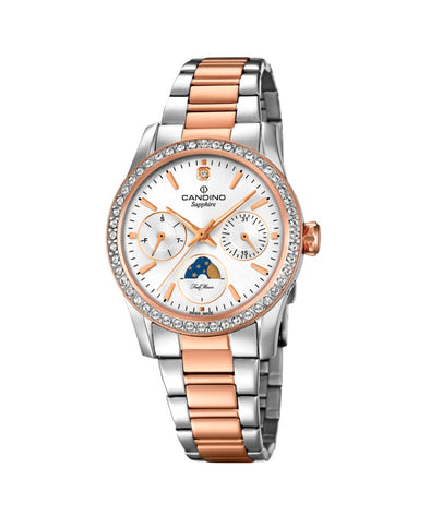 Candino Sapphire Swiss Made Ladies Stainless Steel Watch - Lady Casual Rose