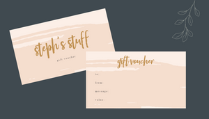 Gift Voucher - Available from $25 to $100
