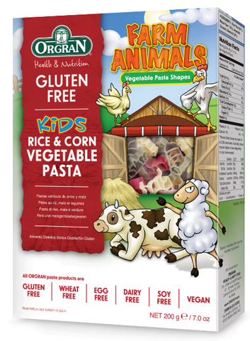 Farm Animals Rice & Corn Vegetable Pasta for Kids