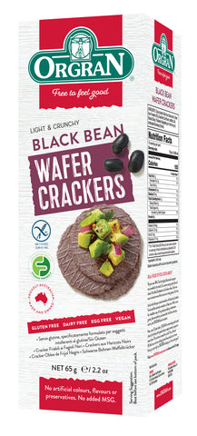 All-Natural Black Bean Wafer Crackers