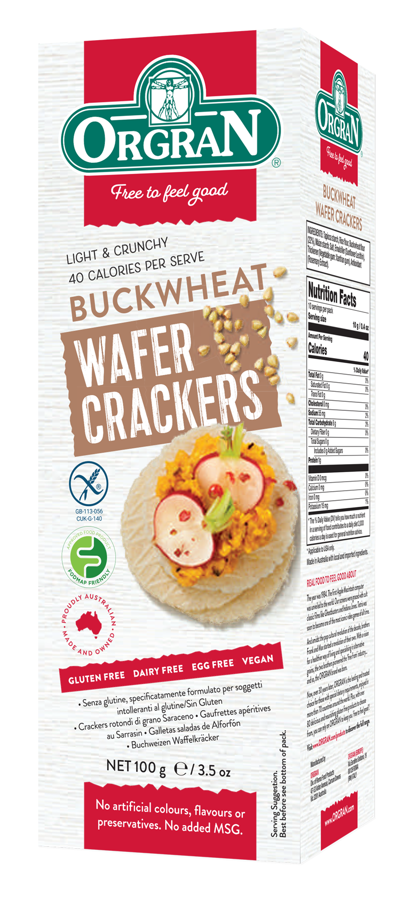 Gluten-Free Buckwheat Wafer Crackers
