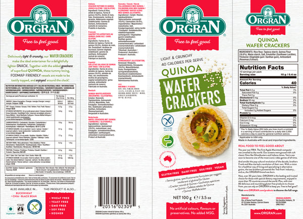 Quinoa Wafer Craker