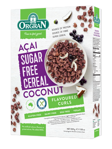 Sugar & Gluten Free Acai & Coconut Flavored Cereal