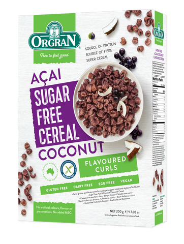 Sugar Free Acai & Coconut Flavored Cereal