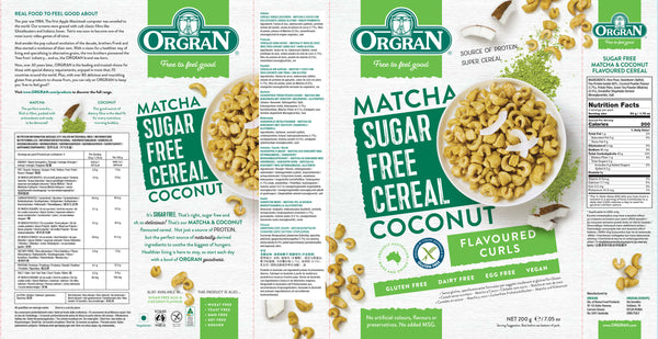 Sugar Free Matcha & Coconut Flavored Cereal