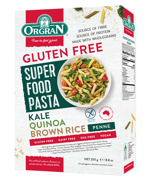 Super Food Brown Rice, Quinoa, Kale Penne Pasta