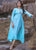 Embroidery Work & Hand Touchu Sky Blue Color Kurti