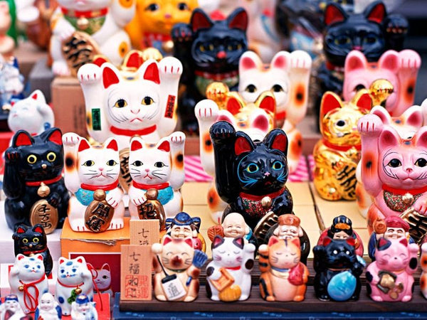 boutique de maneki neko au Japon