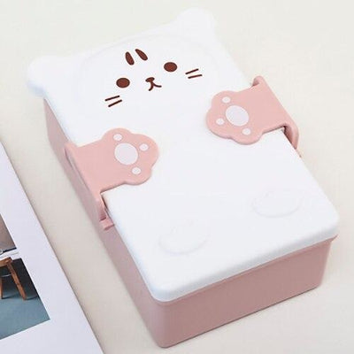 Boîte Bento Kawaii Kitty - Rose