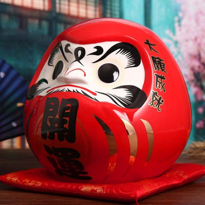 Grand Daruma Tirelire - Rouge