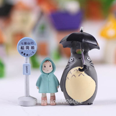 Lot de 3 Figurines Mon Voisin Totoro - Totoro Arrêt de Bus