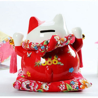 Maneki Neko Tirelire - Rouge