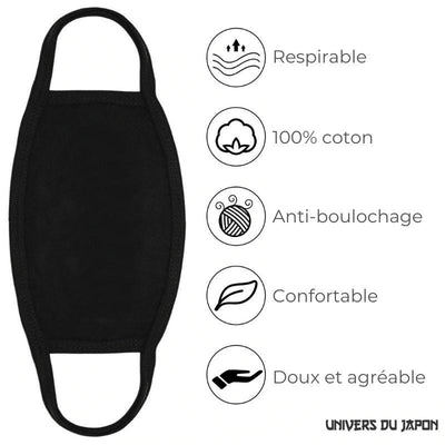 Masque Anti-Pollution Japonais - Cœur - Unique
