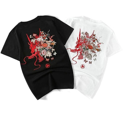 T-shirt Dragon Japonais Brodé