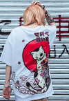 T-shirt Japonais Hip Hop Lucky Cat - Unisexe