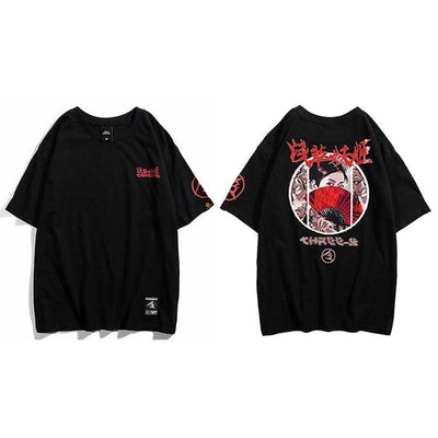 T-shirt Japonais Killer Eyes - Noir / M