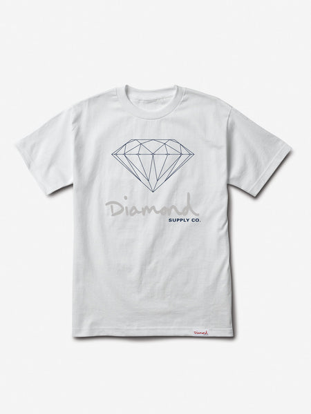Diamond Supply Co - Core OG Sign Tee - White