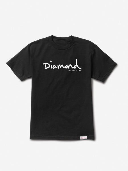 Diamond Supply Co - Core OG Script Tee - Black