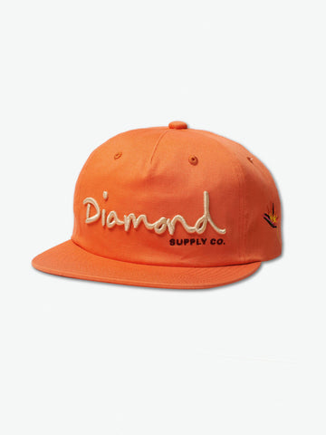 Diamond Supply Co - OG Script Snapback SS19 - Orange