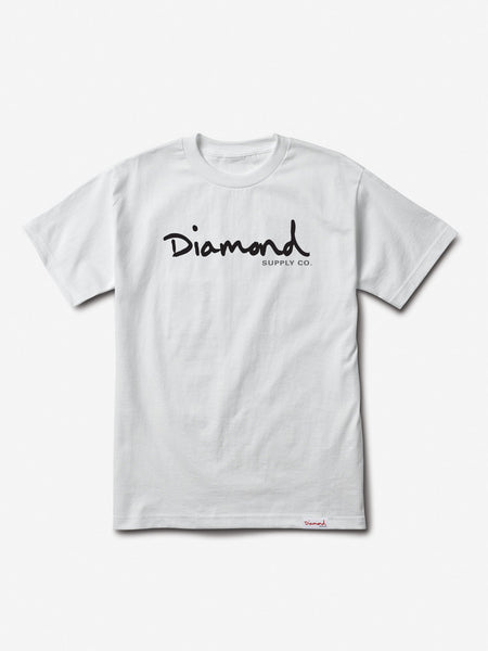 Diamond Supply Co - Core OG Script Tee - White