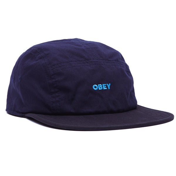 OBEY - ROBBIN REVERSIBLE 5 PANEL HAT - BLACK