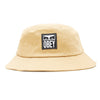 OBEY - ICON LABEL BUCKET HAT - DUCK BROWN