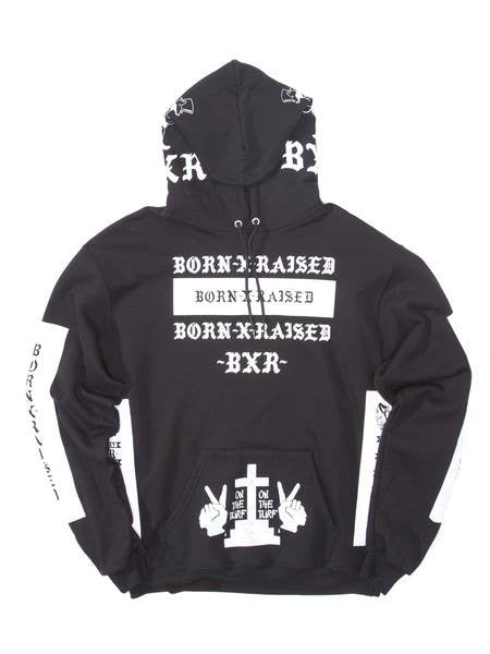 Born X Raised - Nascar Pullover Hoodie - Black - THIS IS ALLEY