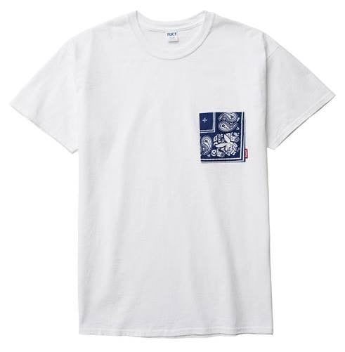 FUCT SSDD - Bandana Pocket Tee - White - THIS IS ALLEY