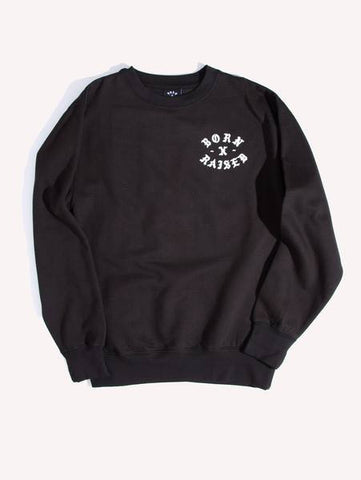 Born X Raised - Rocker Crewneck - Black - THIS IS ALLEY