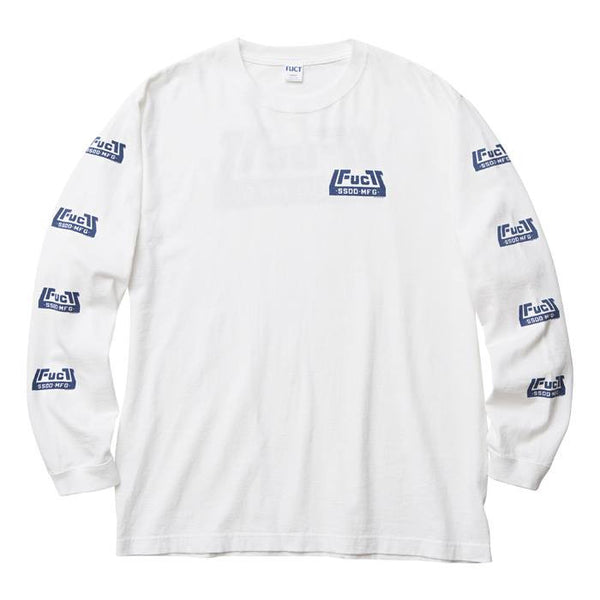 FUCT SSDD - Skate Park Long Sleeve Tee - White - THIS IS ALLEY