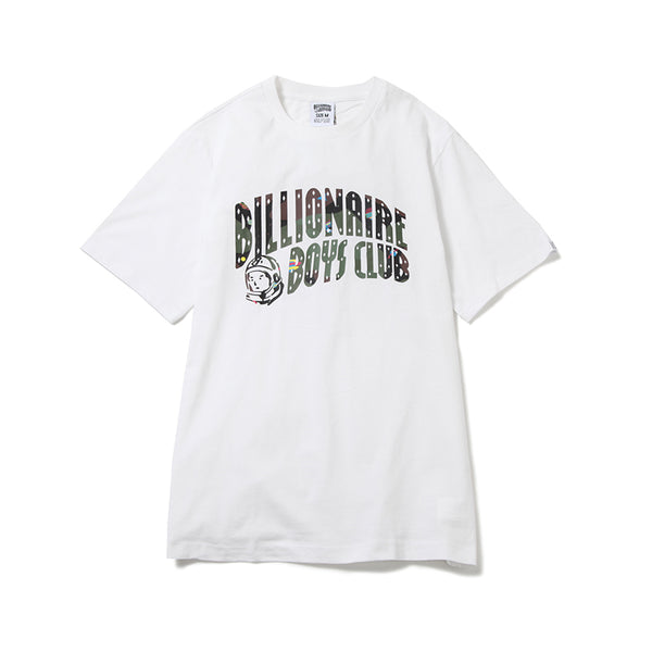 BILLIONAIRE BOYS CLUB - SPACE CAMO ARCH LOGO TEE - WHITE