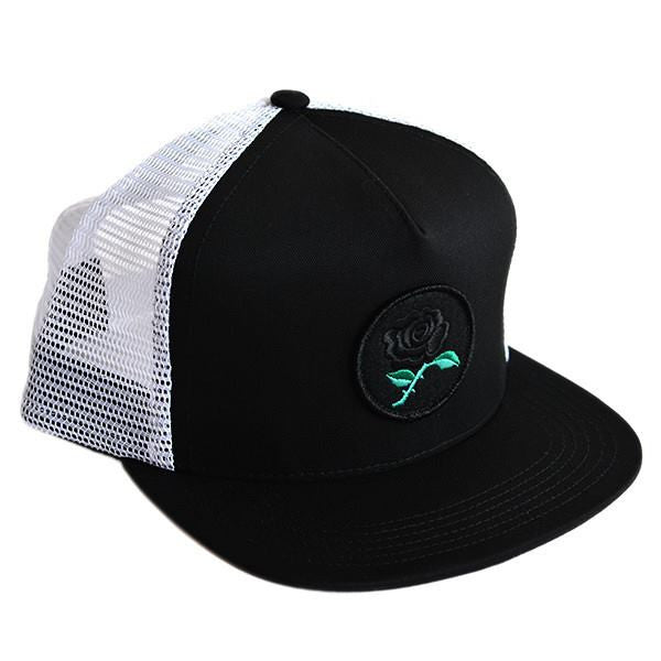 Raised By Wolves - Black Rose Trucker Cap - Black - THIS IS ALLEY
