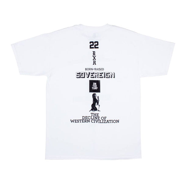 Born X Raised - Decline Tee - White - THIS IS ALLEY
